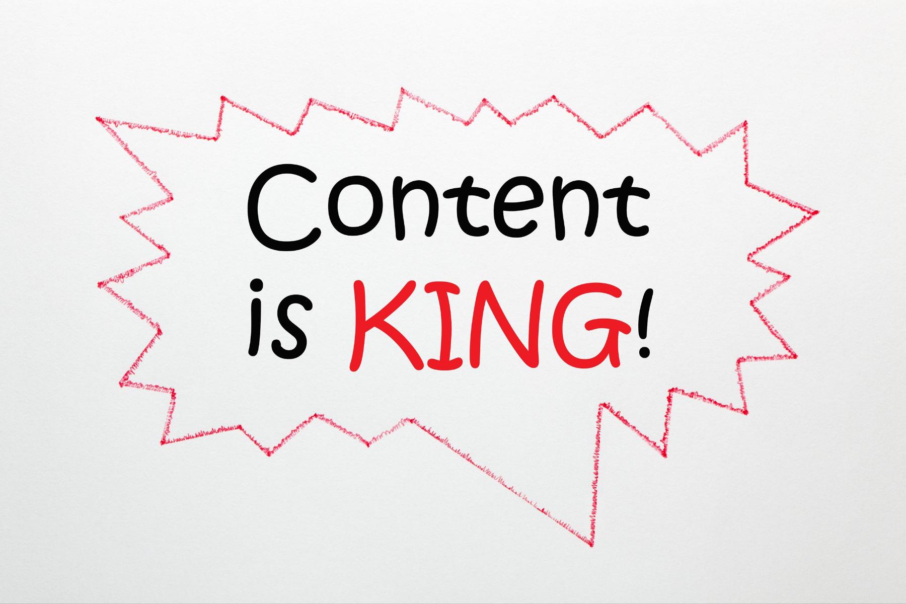 foto Content is King 1 - Verspil minder tijd aan zinloze offertes. En jouw webteksten helpen je daarbij.